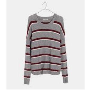 NWT Madewell Westlake Striped Sweater Size XXL